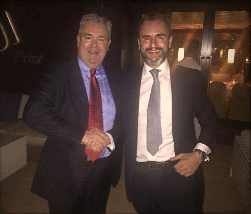 Cooper Fitch at LinkedIn's exclusive dining event with LinkedIn Director, John Herlihy